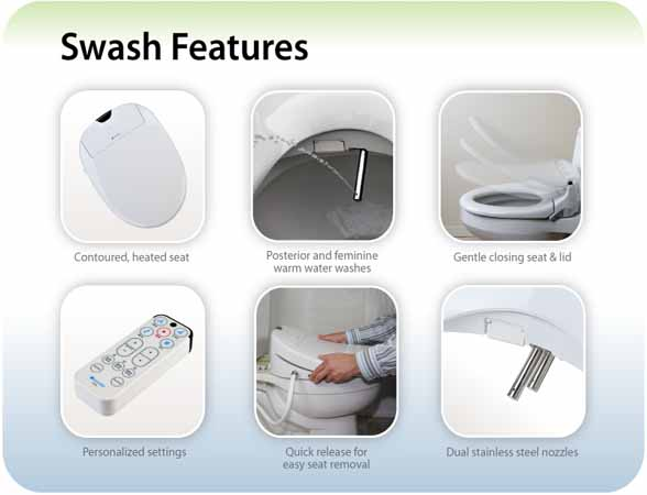 swash bidet features