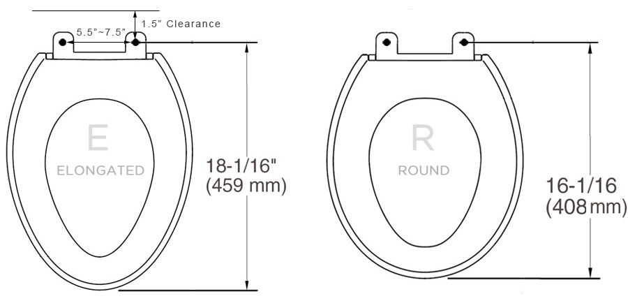 DIB Bidet Seat Toilet Seat Measurement: Sanicare.com